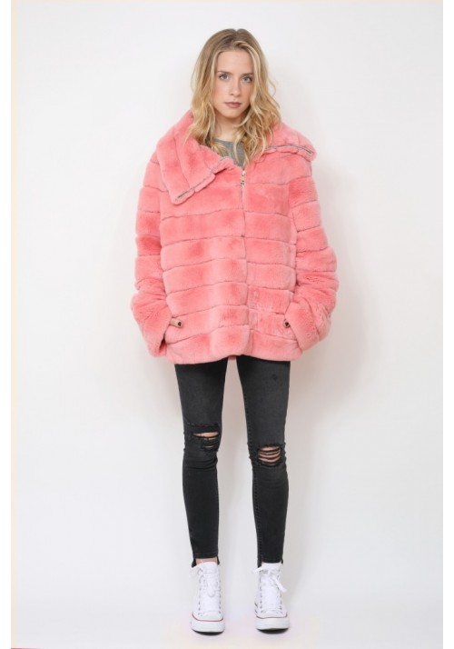 Fur jacket of rex Flora