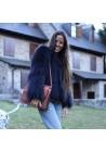 Chaqueta de piel de zorro tricotado Alejandra