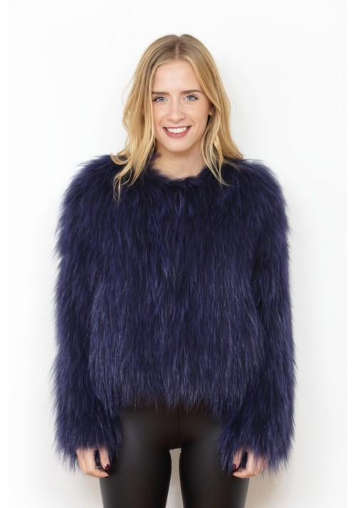 Fur jacket of knitted fox Alejandra