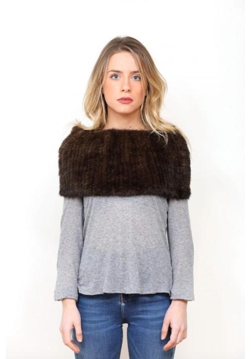 Fur elastic stole of mink Oriana