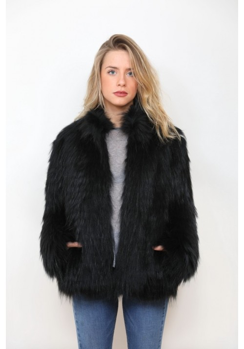 Fur jacket of raccoon Amy