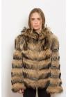 Fur jacket of raccoon Helena