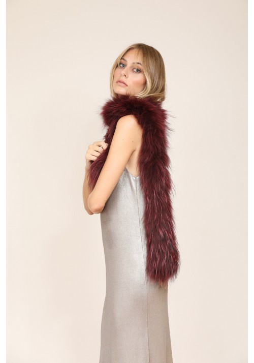 Fur elastic knitted stole of fox Natalia