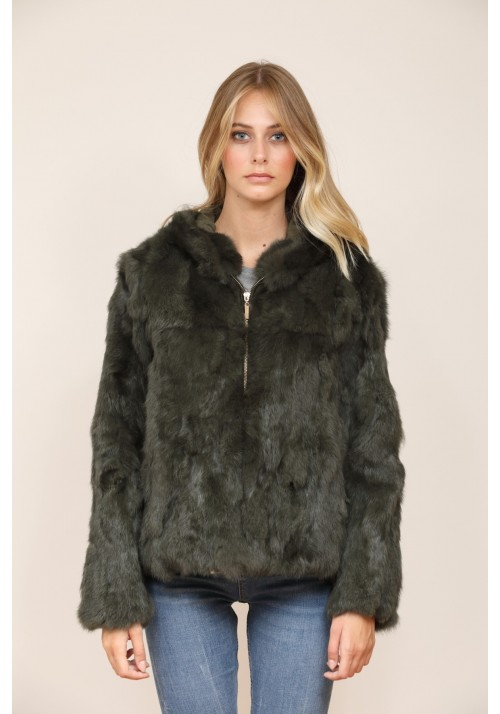 Fur jacket of rabbit Carla