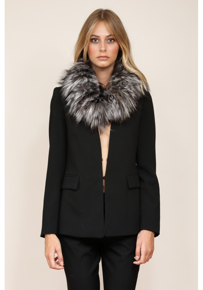 Fur collar of argente fox Lacie