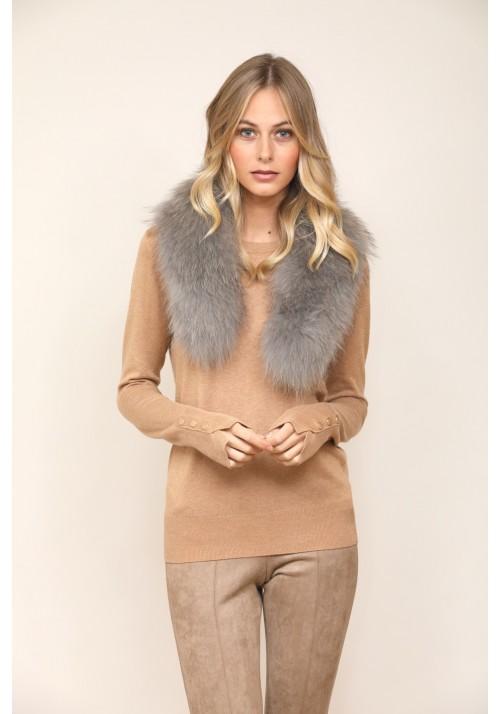 Fur collar of raccoon Julieta