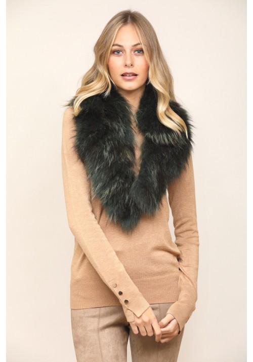 Fur collar of raccoon Cindy