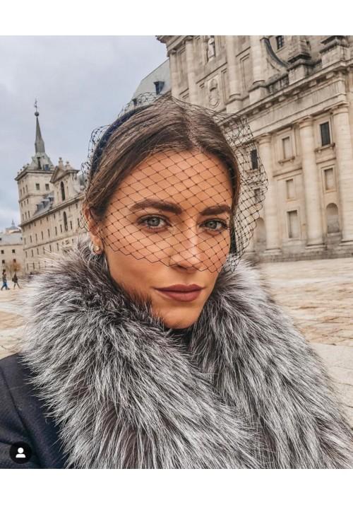 Fur stole of silver fox Paula