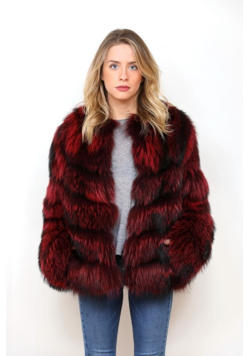Fur jacket of raccoon Nuria