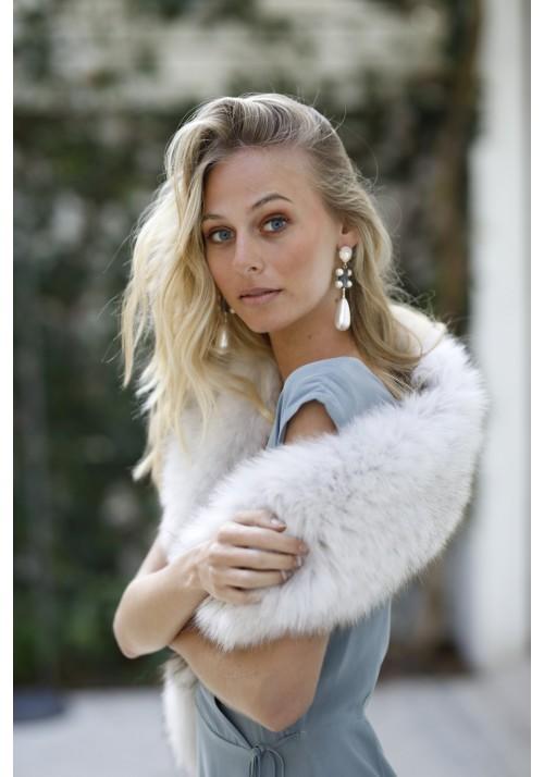 Fur stole of fox Miranda