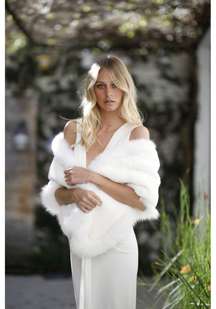 Fur stole of rex Belinda