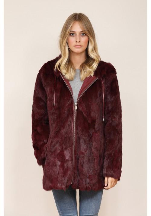 Fur Jacket of rabbit Daphne