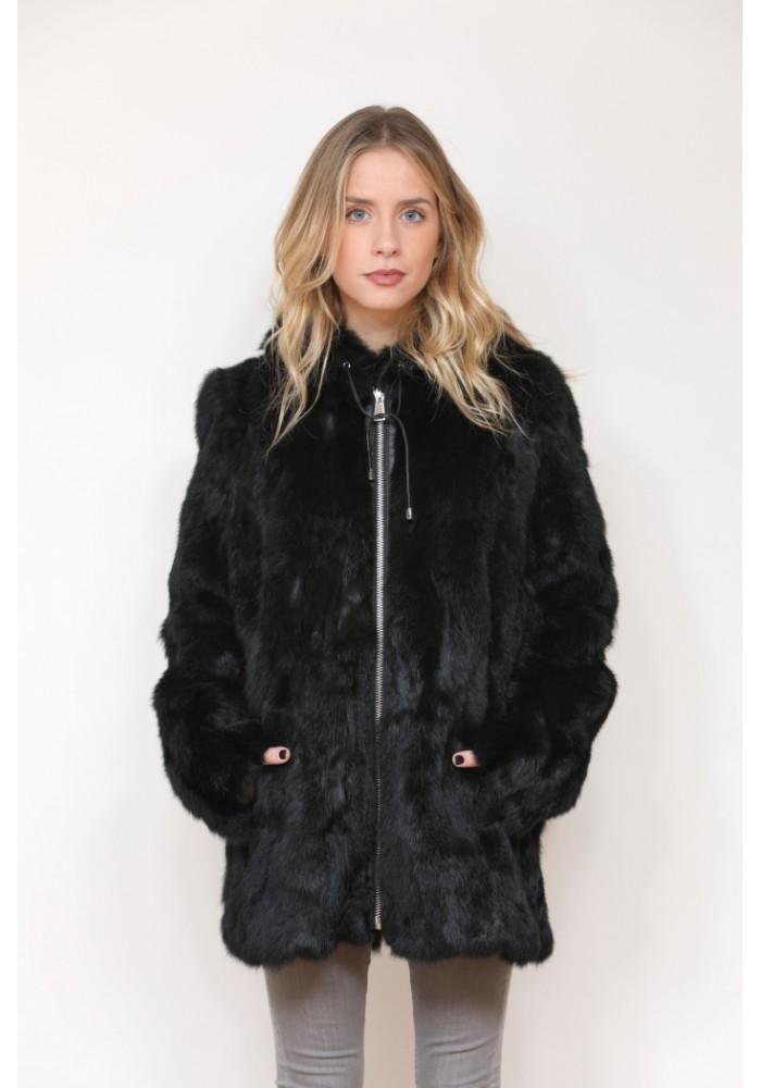 Fur Jacket of rabbit Maika