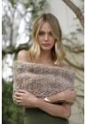 Estola tricotada de piel de rex Alba