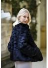 Fur jacket of rabbit Khara