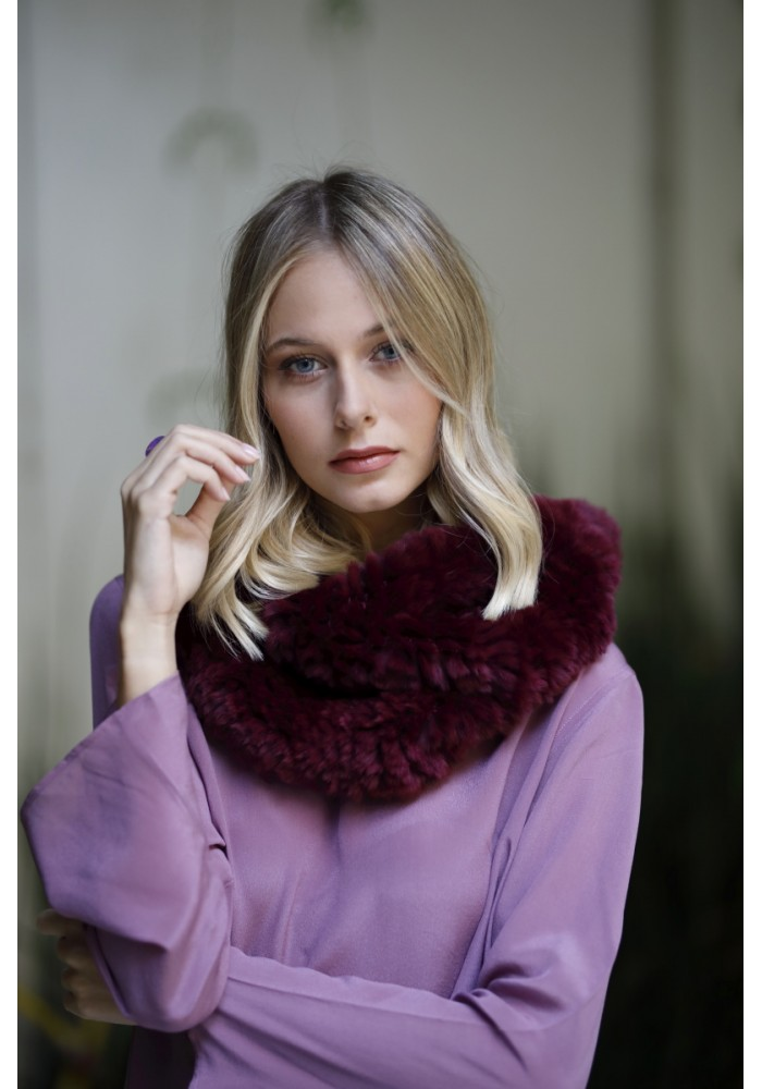Fur knitted stole of rex Fiorella