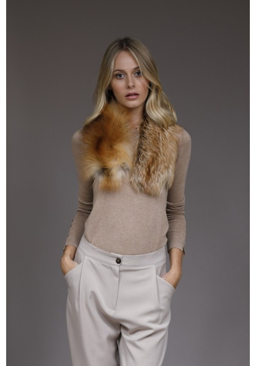 Fur collar of fox Adele