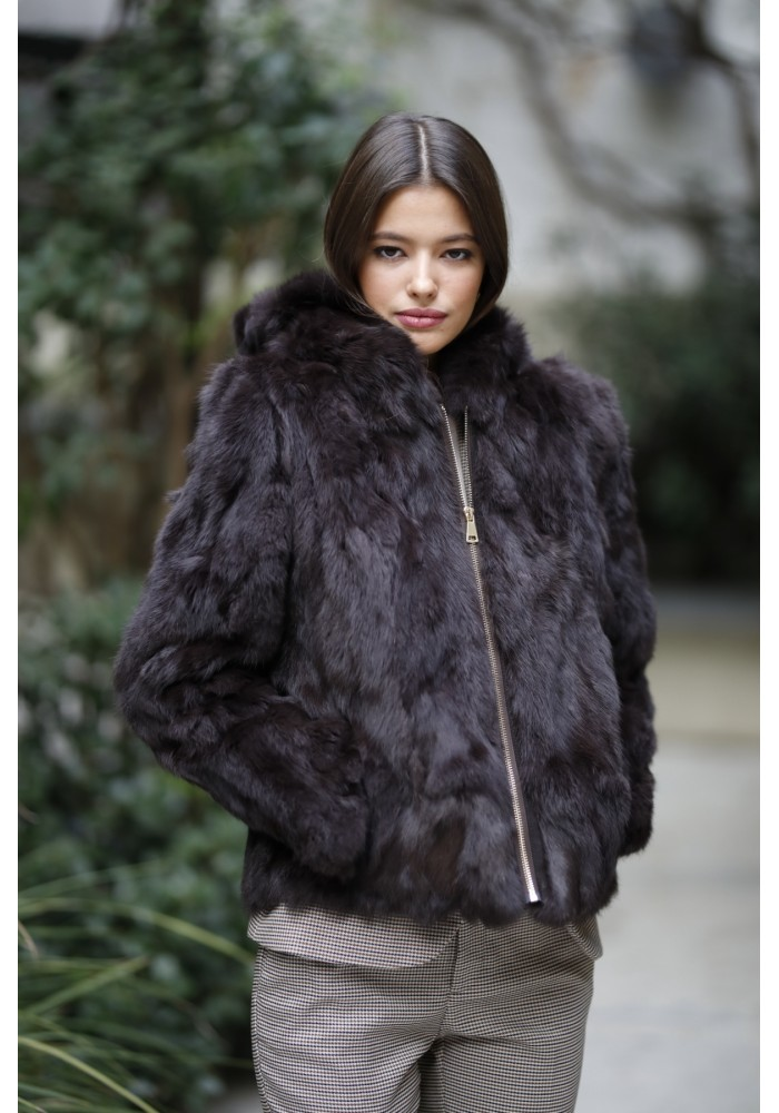 Fur jacket of rabbit Jimena