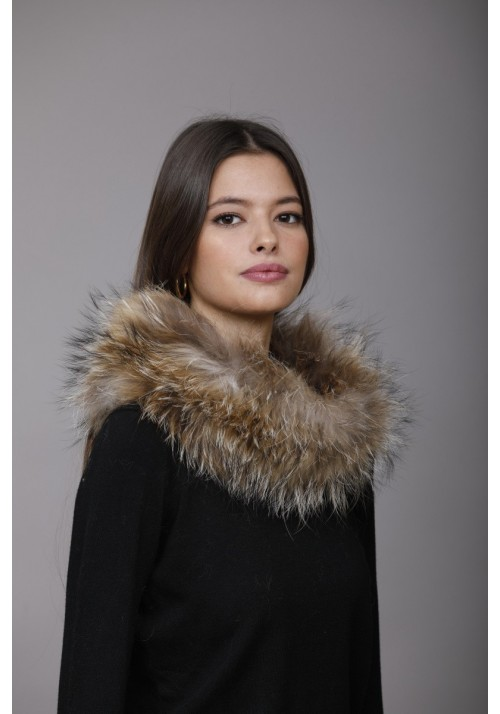 Fur knitted collar of fox Milan