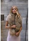 Estola de piel de mapache Stella