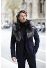 Fur collar of argente fox Sharon Men's Collection
