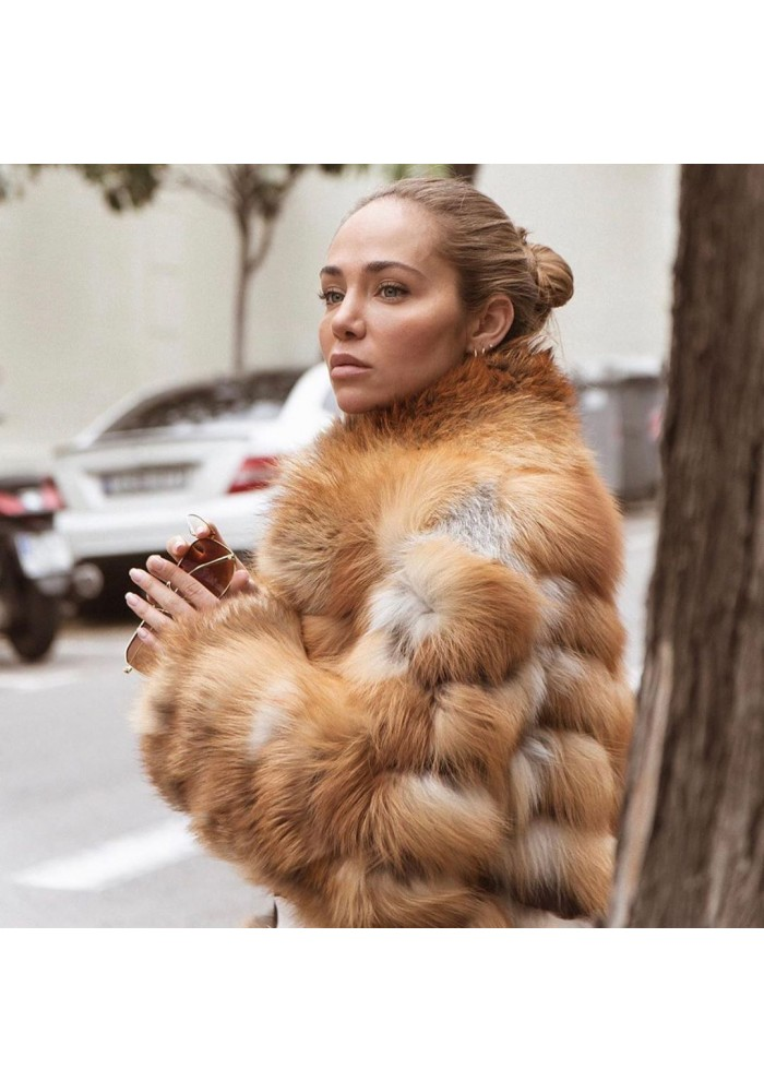 Fur jacket of fox Pamela