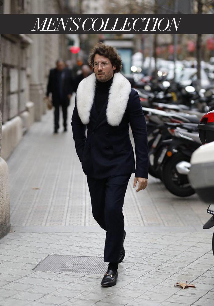 Fur stole of fox Laredo Men's collection