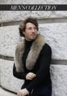 Fur stole of raccoon Alex Men's Collection