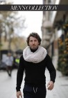 Fur knitted stole of rex Alba Men's Collection