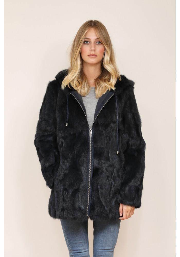 Fur Jacket of rabbit Abby