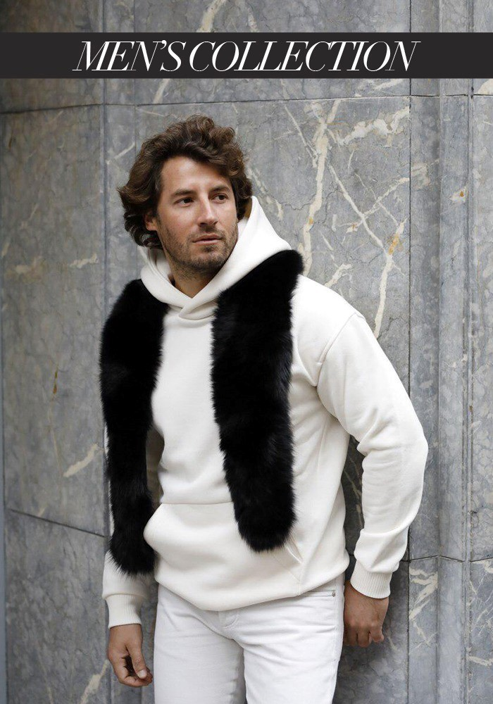 Fur stole of fox Acapulco Men's Collection