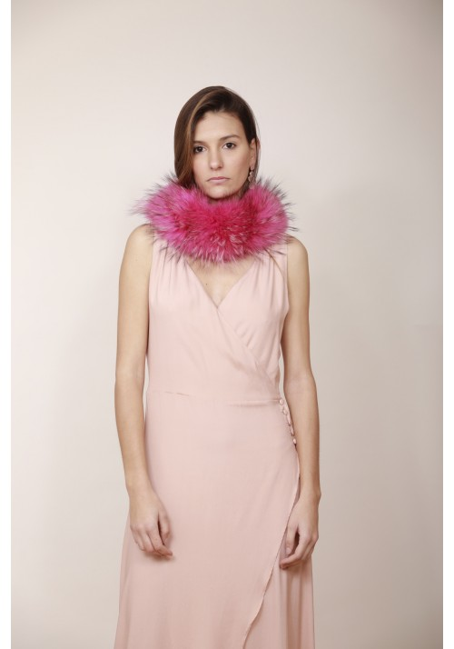 Fur collar of fox Rose