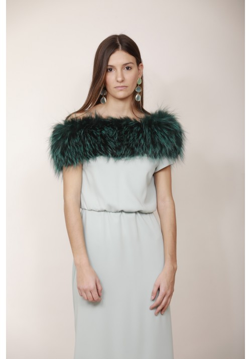 Fur elastic stole of raccoon Geneve