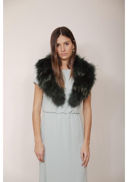 Fur collar of raccoon Agnes