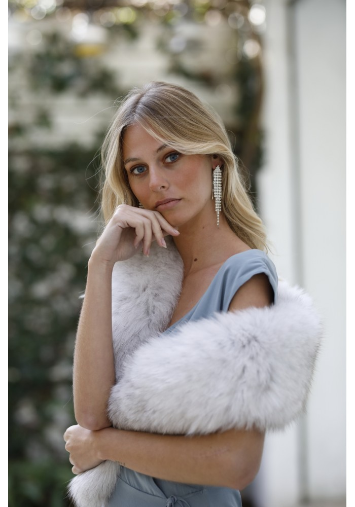 Fur stole of fox Miranda Bridal Collection