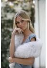Étole en fourrure naturelle de renard Miranda Bridal Collection
