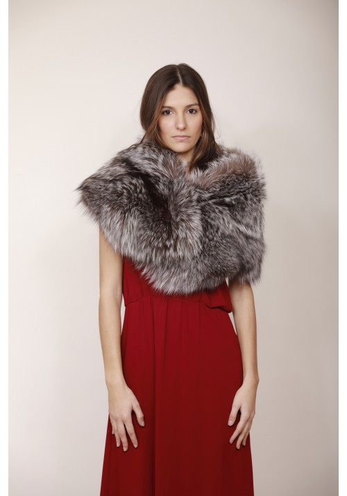 Fur stole of silver fox Ingrid