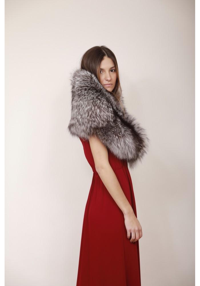 Fur stole of silver fox Ingrid