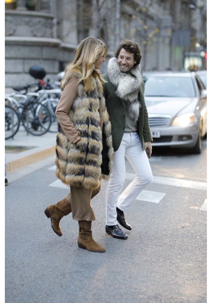 Fur vest of raccoon Eira