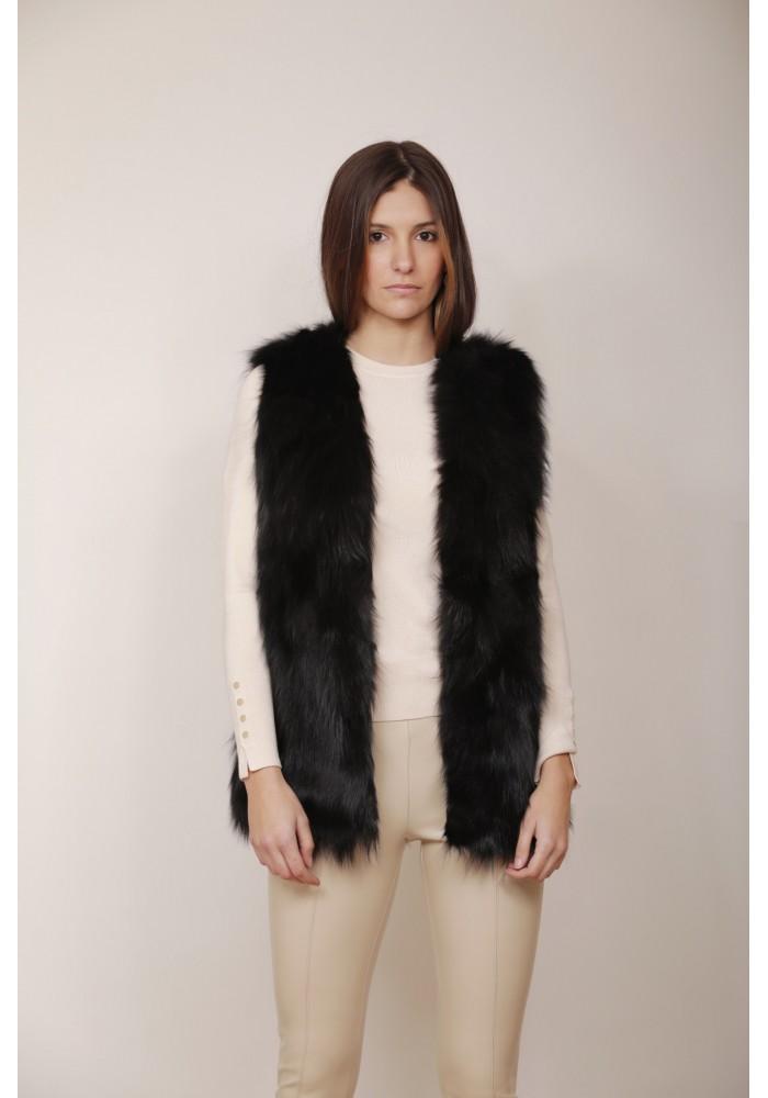 Fur vest of fox Ginger