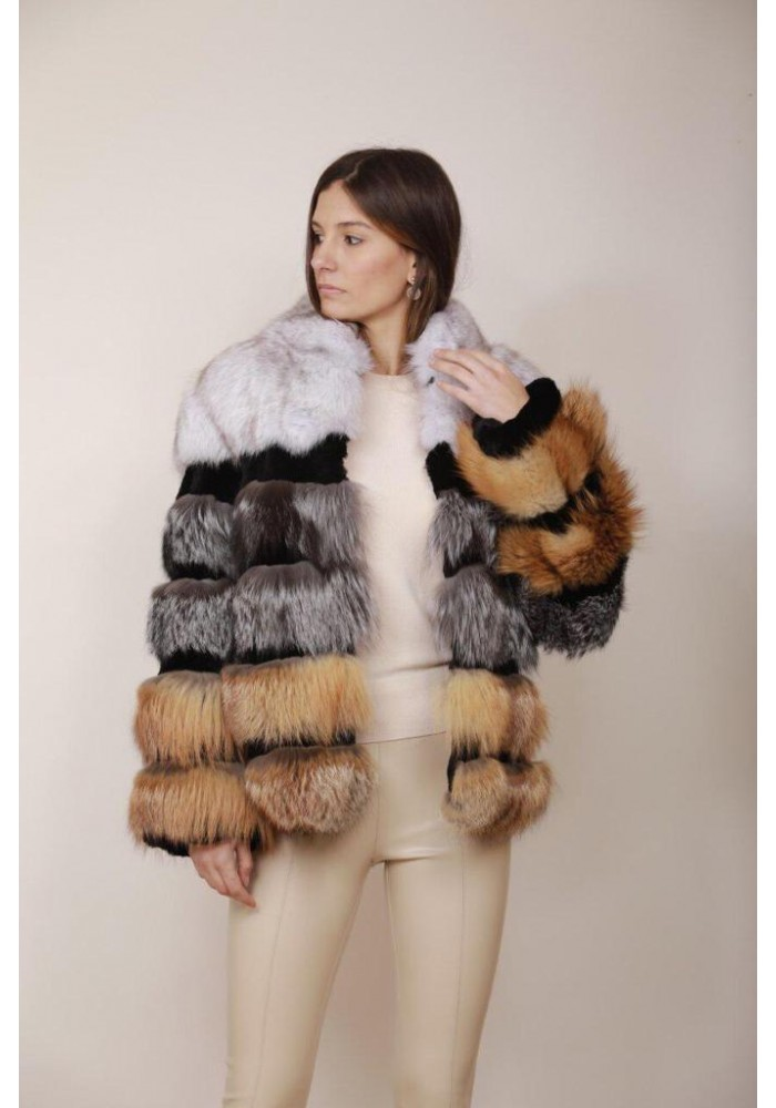 Fur jacket of fox Zoe