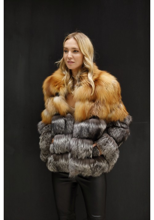 Fur jacket of fox Karina