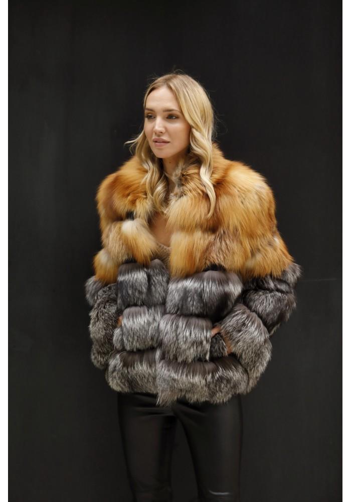 Fur jacket of fox Karina