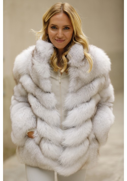 Fur jacket of fox Elsa