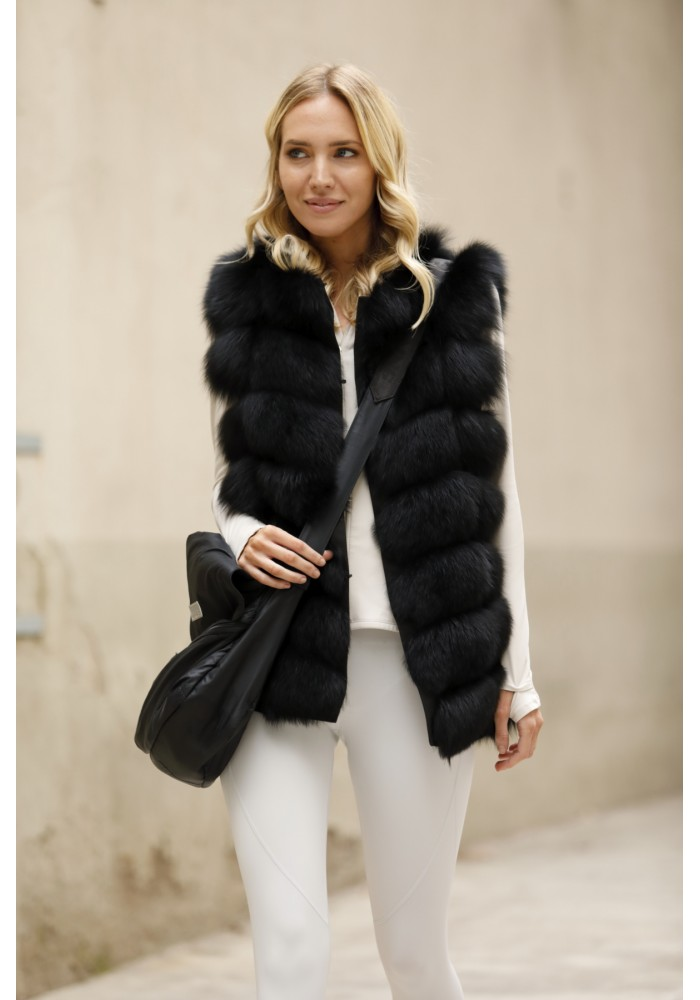 Fur vest of fox Cindy