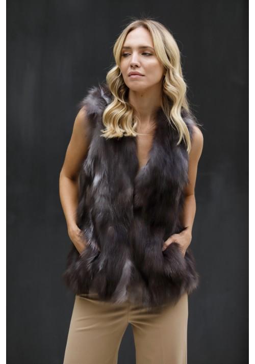 Fur vest of fox Lia