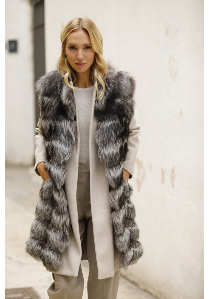 Fur vest of silver fox Celine