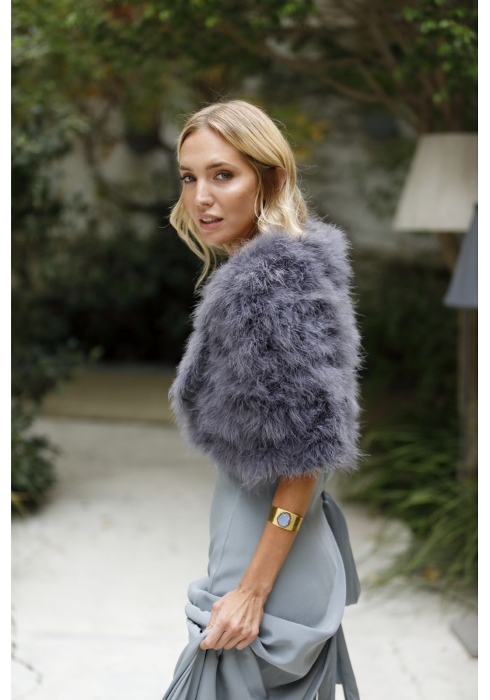 Feather stole of ostrich Kim