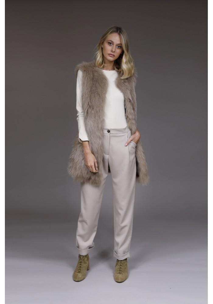 Fur Vest of fox and rabbit Diana