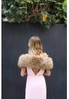 Fur stole of raccoon Stella